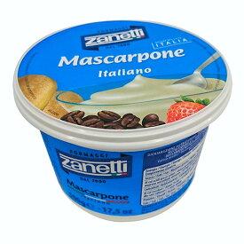 ザネッティ マスカルポーネ 【500g】【フレッシュチーズ】【マスカルポーネチーズ】【冷蔵のみ】【D+2】