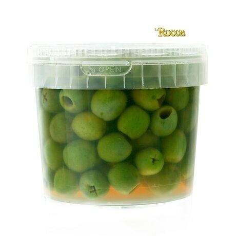 知る人ぞ知る!イタリア/ラロッカのグリーンオリーブ種無し【400g】【land】【冷蔵のみ】【D+2】