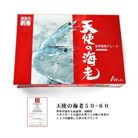 【送料無料】 天使の海老 50-60尾 1kg ニューカレドニア産 【冷凍のみ】