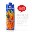 【送料無料】 ジュース 1000ml 12本ケース販売!からだも喜ぶ南国の大地からの贈り物 (パイナップルジュース)CHABA…
