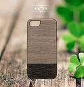 ポイント10倍 保護フィルムプレゼント中 iPhone7 ケース 天然木 Man&Wood Lattis(マンアンドウッド ラティス)アイフォン カバー 木…