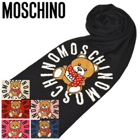 マフラー モスキーノ MOSCHINO テディベア/ロゴ/クマ ウール サイズ160cm/30cm emo20w101 M2333 30673 6カラー