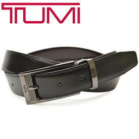 レザーベルト トゥミ メンズ TUMI リバーシブルベルト ビジネス サイズ調整可能 etm016 1321313 ブラック/ブラウン
