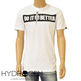 Tシャツ ハイドロゲン メンズ HYDROGEN ロゴプリント半袖 サイズ/S/M/L/XL ehd20s014 265610 DO IT BETTER TEE ホワイト