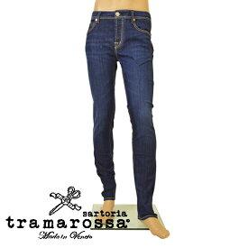 ジーンズ トラマロッサ tramarossa メンズ テーパード センタープレス デニムパンツ etr20s002 LEONARDO D754 6 MONTH インディゴ