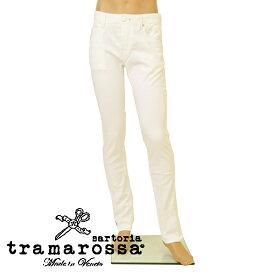 ジーンズ トラマロッサ tramarossa メンズ テーパード センタープレス デニムパンツ etr20s003 LEONARDO MIDNI ホワイト