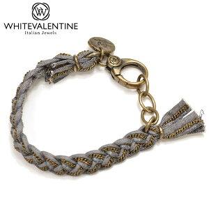 WHITE VALENTINE ホワイトバレンタイン メンズ/レディース 編み込みチェーンブレスレット サイズ/F/ wb025 OTBR 10200 GD:デニム