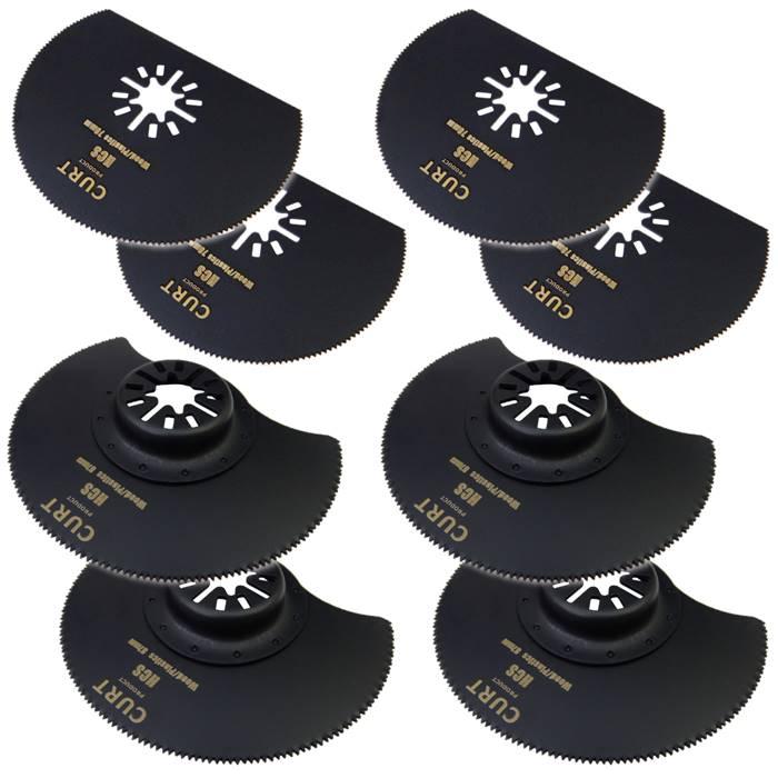 マルチツール 替刃 2種類 8枚 ラウンドソー 半円 きわ切り マキタ ボッシュ BOSCH 日立 互換品