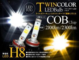 【あす楽 H8 フォグランプ Gracias ツインカラー LEDライトキット ホワイト イエロー イグニス FF21S ハロゲン仕様車(H28/1〜) スイッチ切替式 6000K/3000K 左右セット