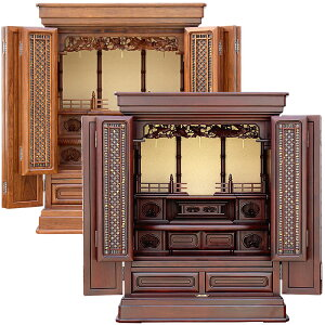唐木仏壇・天樹 天然木材 25号【仏壇】【伝統型仏壇】タウン材を主芯材とし戸板や大戸軸には紫檀、栴檀を使った上置きの中でも大型サイズの25号で非常に重厚感や荘厳さのあるお仏壇です