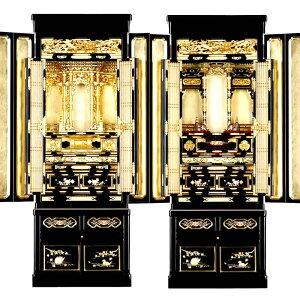 金仏壇・光明 48-18号【仏壇】【金仏壇】随所に蒔絵が施され本願寺派、大谷派の東西にしっかり合わせて造られた本格派も納得の金仏壇。48号サイズでどんな部屋にも合わせやすいサイズで