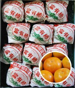 送料無料 岐阜 野々村さん家の甘くて濃い富有柿 大きい! 一番キレイ! 秀品 2L 24玉 個包装 ご進物に!