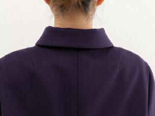 ブティックひでき袖口ダーツ箱ポケット付きステンカラーコート