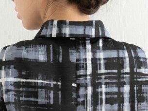 ブティックひでき袖口切り替え付きステンカラージャケット台形スカート