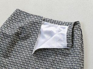 ブティックひできスタンドカラー箱ポケット付きジャケット台形スカート