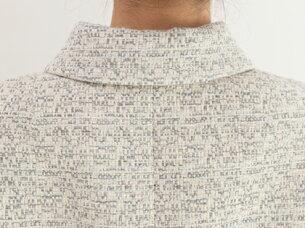 ブティックひでき袖口スリット付きステンカラージャケット台形スカート