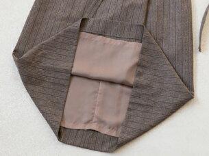 ブティックひできアシンメトリータックプリーツジャンパースカート