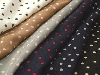 Mini-Japan-made rayon cotton 80 loans random dots dots 6 color P