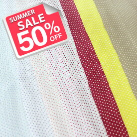 日本製 コットン 80ローン ミラクルウェーブ ミニダイアゴナルドットプリント 全8色 D[オーダーカット生地 10cm単位] 【RCP】