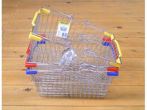 【ダルトン】DULTON マーケットバスケットL(クロームボディ)[CH99-W04CR] アメリカン雑貨 買い物かご 収納 カゴ スチール おしゃれ オシャレ