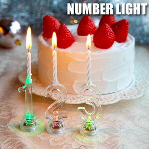 ろうそく 誕生日 数字 ケーキ用 led キャンドル ロウソク ケーキトッパー バースデーキャンドル かわいい 記念日 ■ ナンバーライト [2L-200]