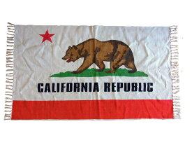 カリフォルニアリパブリック コットンマット (ラグマット) ■ 綿100% 州旗 アメリカ リビング 玄関マット キッチンマット エントランスマット ラグ アメリカン雑貨