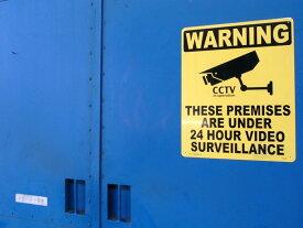 【看板】プラスチックサインボード (Lサイズ) 24時間監視中 (WARNING) [CA-L03] ■ 男前インテリア メッセージ サインプレート アメリカン雑貨