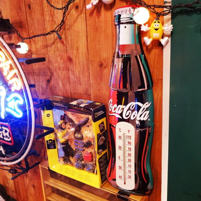 【コカコーラ ティンサーモメーター】 温度計 ブリキ ビッグサイズ 瓶 ビン アメリカン雑貨 【あす楽対応】