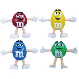 m&m's ベンダブルフィギュア4Pセット ■ エムアンドエム キャラクター 人形 アメリカン雑貨 【あす楽対応】