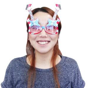 【おもしろメガネ】サングラス ギターインUSAフラッグ ■ サングラス パーティーサングラス めがね 変装 面白 アメリカン雑貨 【あす楽対応】