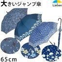 【あす楽】大きいジャンプ傘 女性用 65cm×8本骨【LIEBEN-0478】 雨傘/長傘 naga