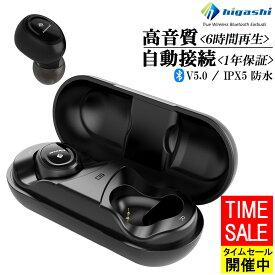 【圧倒的な高評価レビュー4.4点!最新版Bluetooth5.0 連続6時間再生】 ワイヤレスイヤホン イヤホン iphone Bluetooth 5.0 両耳 防水 マイク ワイヤレス 高音質 スポーツ ランニング ブルートゥース カナル型 ステレオ