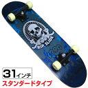 31インチスケートボード プラスチックトラック (デザイン/SKULL) RIPSLIDE(リップスライド)
