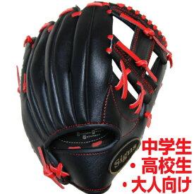 軟式用野球グローブ 12インチ 中学生 高校生 一般大人向け 右投げ ブラック 9029モデル