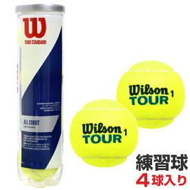 Wilson(ウィルソン)硬式テニスボール 練習球 4個入 TOUR STANDARD(ツアースタンダード)