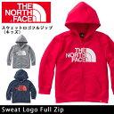 即日発送 【ノースフェイス/THE NORTH FACE】 トップス スウェットロゴフルジップ(キッズ) Sweat Logo Full Zip NTJ1160...