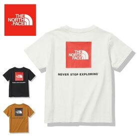 ●THE NORTH FACE ノースフェイス S/S Square Logo Tee ショートスリーブスクエアロゴティー NTJ32142 【キッズ/子ども/半袖/Tシャツ/正規品】【メール便・代引不可】