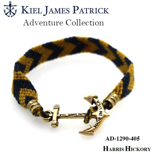 キールジェイムスパトリック KIEL JAMES PATRICK ロープ ブレスレット Adventure Collection NVY/GLD AD-1290-405【即日発送】