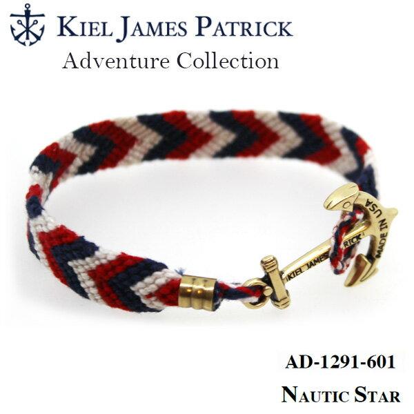 キールジェイムスパトリック KIEL JAMES PATRICK ロープ ブレスレット Adventure Collection RD/WHT/NVY AD-1291-601【即日発送】
