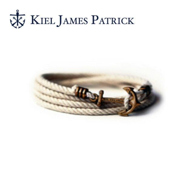 キールジェイムスパトリック KIEL JAMES PATRICK ロープ ブレスレット Lanyard Hitch Collection WHT LH-907-100【即日発送】