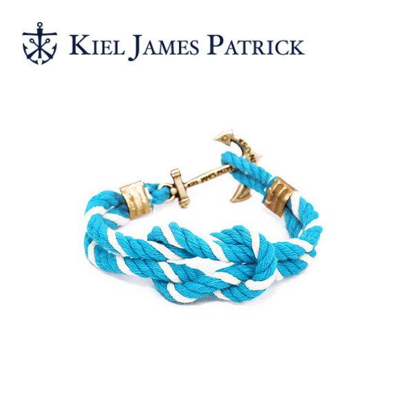 キールジェイムスパトリック KIEL JAMES PATRICK ロープ ブレスレット Triton Collection TEAL/WHT TC-1300-460【即日発送】