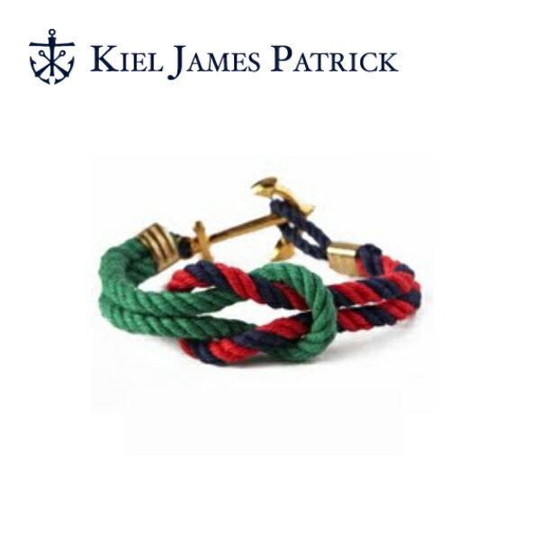 キールジェイムスパトリック KIEL JAMES PATRICK ロープ ブレスレット Triton Collection FRST/NVY/RD TC-1028-304【即日発送】