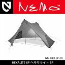 即日発送 【NEMO Equipment/ニーモ・イクイップメント】 テント HEXALITE 6P ヘキサライト 6P グレー NM-HEX-6P-GY 【T...