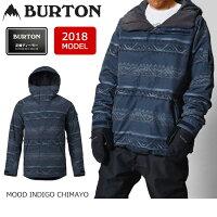 2018BURTONバートンスノーボードウェアジャケットMBHILLTOPJACKETMOODINDIGOCHIMAYO13066103402メンズ【スノーウェア】