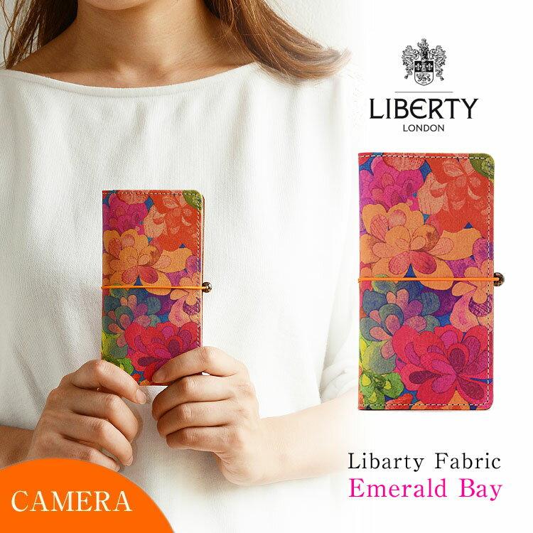 スマホケース 手帳型 全機種対応 本革 かわいい 花柄 「リバティ・emerald bay・エメラルドベイ」 カメラ穴 HIGHCAMP