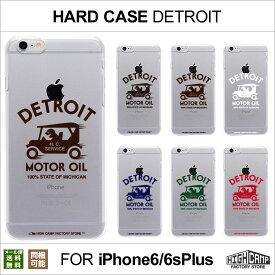 【メール便送料無料】スマホケース iPhone6 Plus iPhone6s Plus クリアハードケース「DETROIT柄」HIGHCAMP clear hard Case for iPhone6 Plus アイフォン6 プラス アイホン6s プラス ハード カバー クリア ケース ポリカーボネート クリア カバー