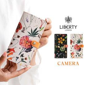 「iphone 12 対応」「リバティ・フローラル・イヴ・カメラ穴」おしゃれ かわいい 花柄 リバティ スマホケース 手帳型 全機種対応 本革 カメラ穴 ハイキャンプ 母の日 栃木レザー 日本製 iPhonese2 らくらくホン対応