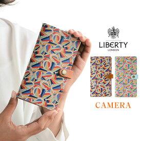 「リバティ・Derby Day ダービー・デイ・カメラ穴」おしゃれ かわいい 花柄 リバティ スマホケース 手帳型 全機種対応 本革 カメラ穴 HIGHCAMP 母の日 iPhonese2 らくらくホン対応