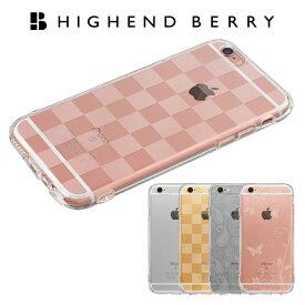 iPhone 6/6s Plus 5.5インチ ケース Highend berry(ハイエンドベリー) ソフトTPU ストラップホール/保護キャップ付 クリア/チェッカード/パラダイス/ペイズリー【スマホケース iPhone6 アイフォン6/6s Plus 5.5インチ ランキング】【20P03Dec16】