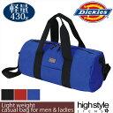 ドラムバッグ ショルダーバッグ メンズ レディース Dickies(ディッキーズ)カジュアル 旅行 軽量ロールボストンバッグ ★鞄 カバン 通勤…